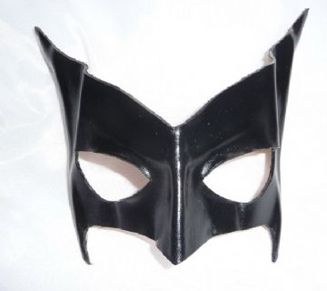 Exclusive Design Genuine Handmade Black Bat Leather Mask (1)